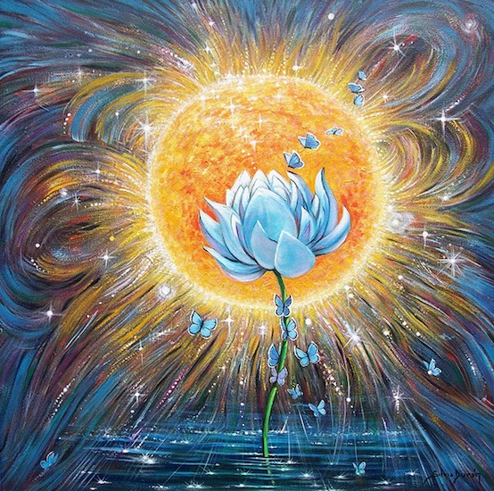 hoa sen trong nguc lua